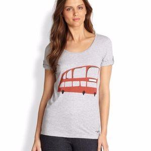 Burberry  Double Decker Bus Print T-Shirt Tee gray